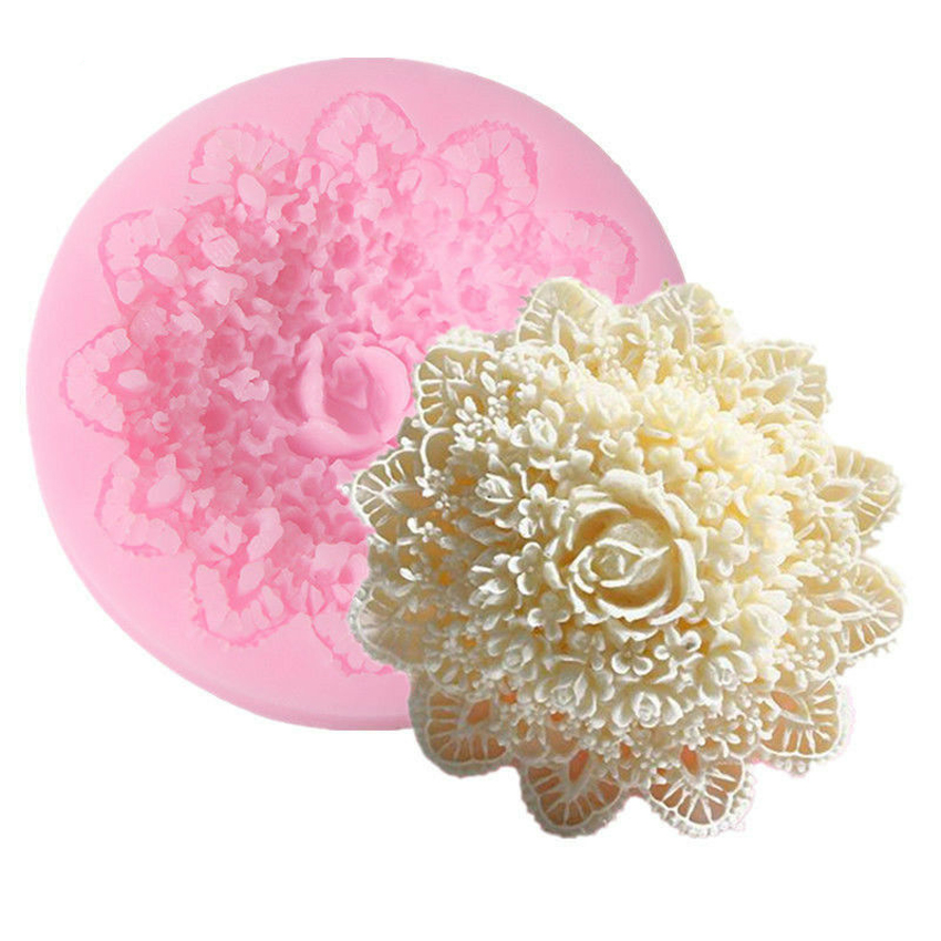Lace Flower Silicone Fondant Mold Cake Decorating Baking Sugarcraft Mould Decorating Tools Chocolate Gumpaste Candy Clay Moulds