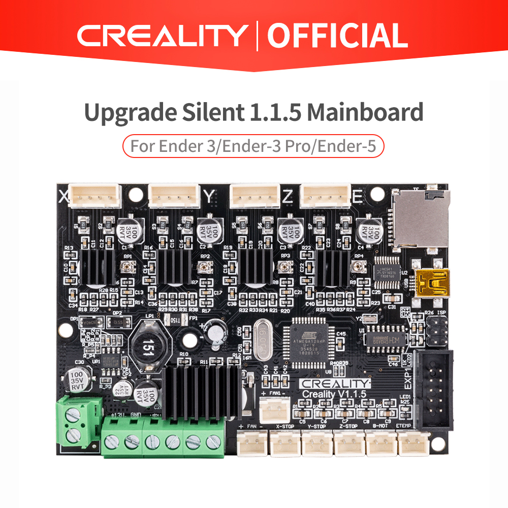 CREALITY 3Dอัพเกรดใหม่เงียบ 1.1.5 MainboardสำหรับEnder 3/Ender-3 Pro/Ender-5 (ที่กำหนดเองUnd Non-มาตรฐานการจับคู่)