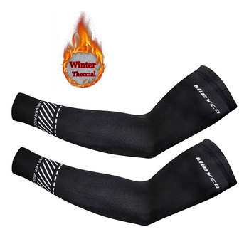Mieyco Зимние флисовые теплые спортивные рукава, велосипедные рукава, теплые руки для велосипеда, сохраняющие тепло для мужчин/женщин и мужчин...