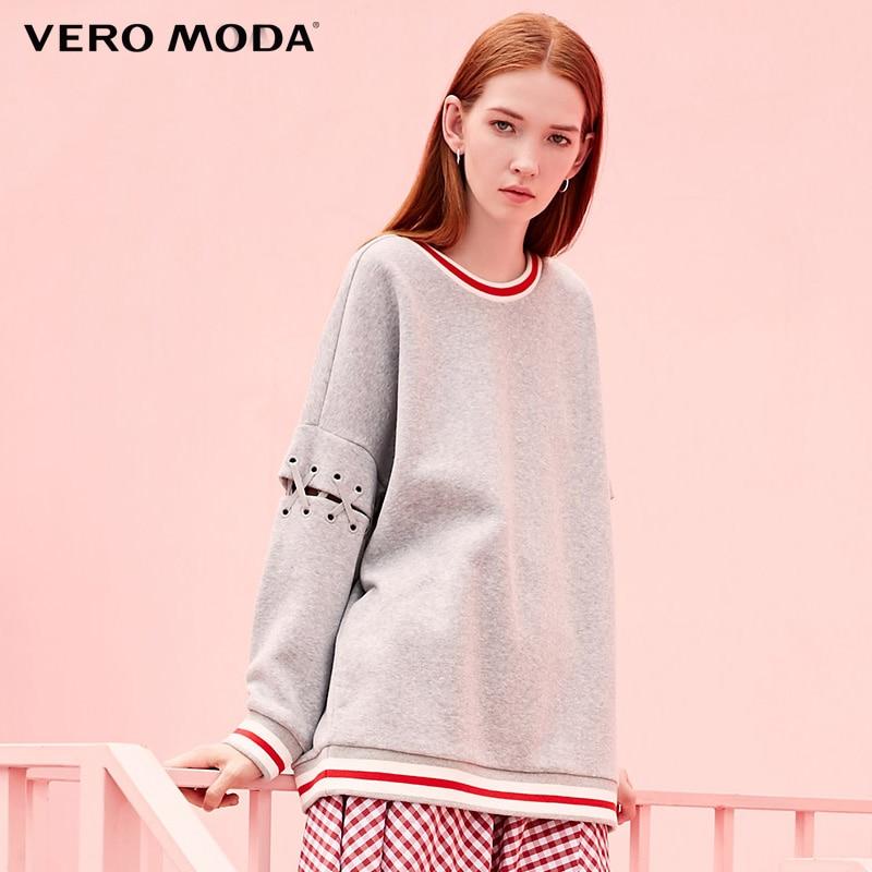 Vero Moda  Spring Strip Design Knitting Hoodies  3183R3501