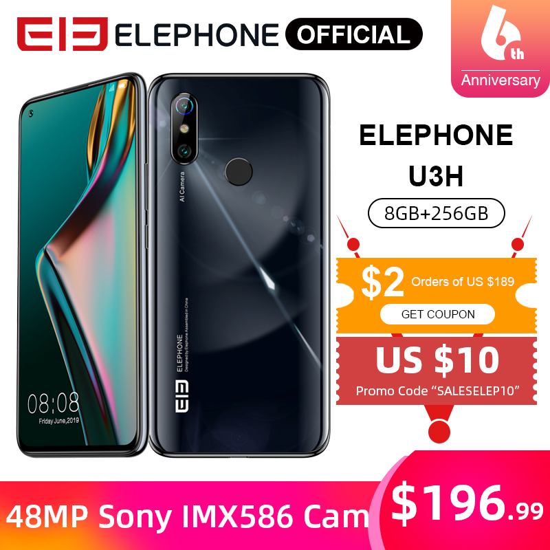 ELEPHONE U3H Helio P70 Octa Core Smartphone 8GB 256GB 6.53