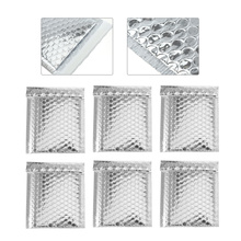100 Pcs Silver Bubble Mailers Padded Envelopes Self Seal Mailing Shipping Bags