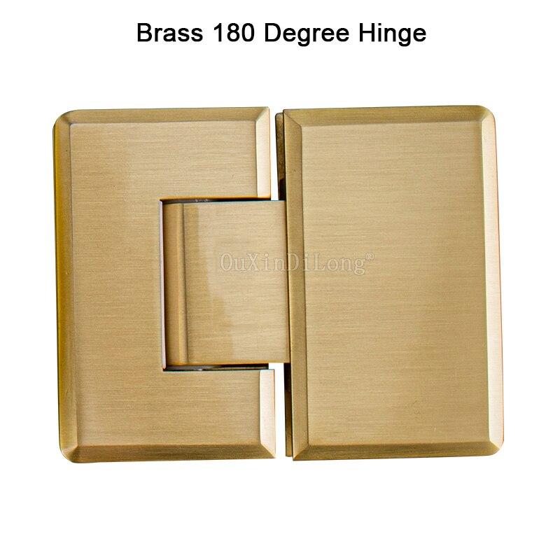 2 шт. 180 градусов латунный зажим, стеклянный зажим, дверной шкафчик, шарнир для витрин, стеклянная мебель для душа, петля, запасные части GF135
