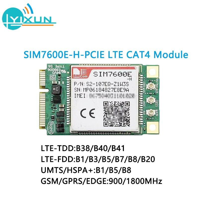 SIMCOM SIM7600 SIM7600E-H Mini Pcie LTE Cat4 Module SIM7600E-H-PCIE Multi-band LTE-FDD/LTE-TDD/HSPA+/UMTS/EDGE/GPRS/GSM Module