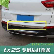 Автомобильный 304 из нержавеющей стали, накладка на задний бампер для hyundai IX25, автомобильный Стайлинг