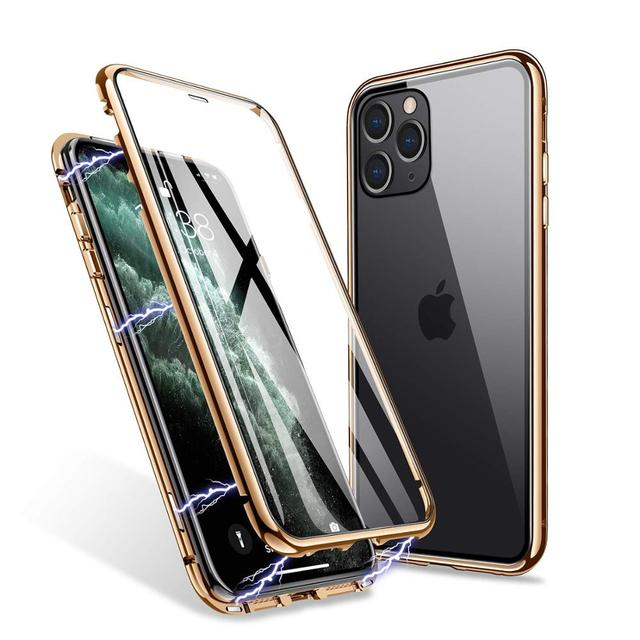 Magnetic Protective Case For IPhone 12 11 Pro XS MAX XR X 8 7 Plus With Double-Sided Tempered Glass Metal Frame Phone Cover 1