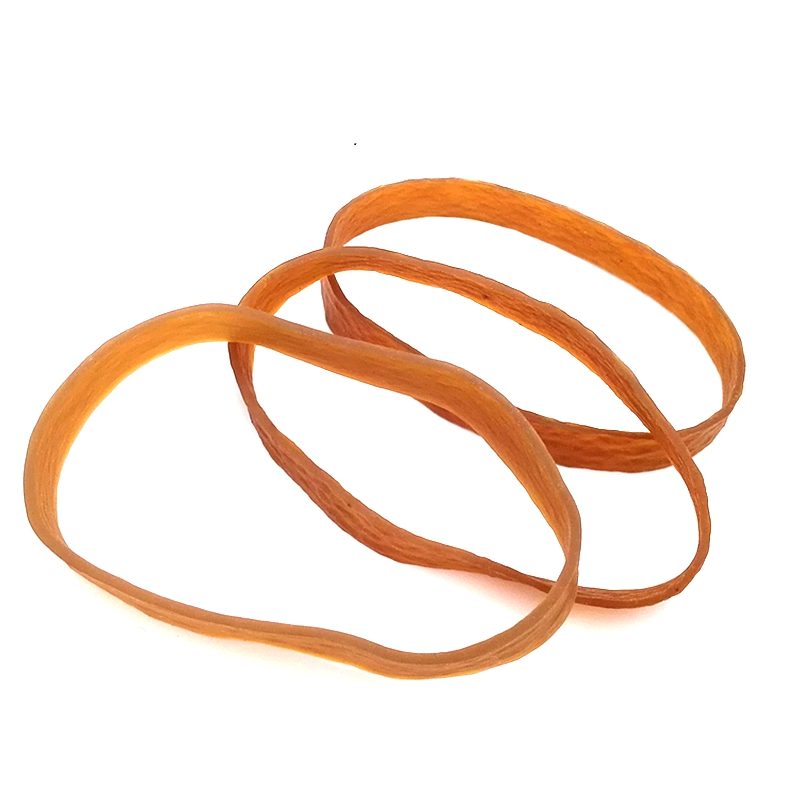 New Big Witdh Rubber Band Yellow 100x10mm Stretch Bracelet Wad Office Document Elastic Rubber Band