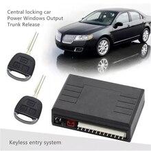 Sistema de entrada keyless chave de controle remoto do alarme de carro de bloqueio central para porta de energia windows liberação tronco automação universal pke