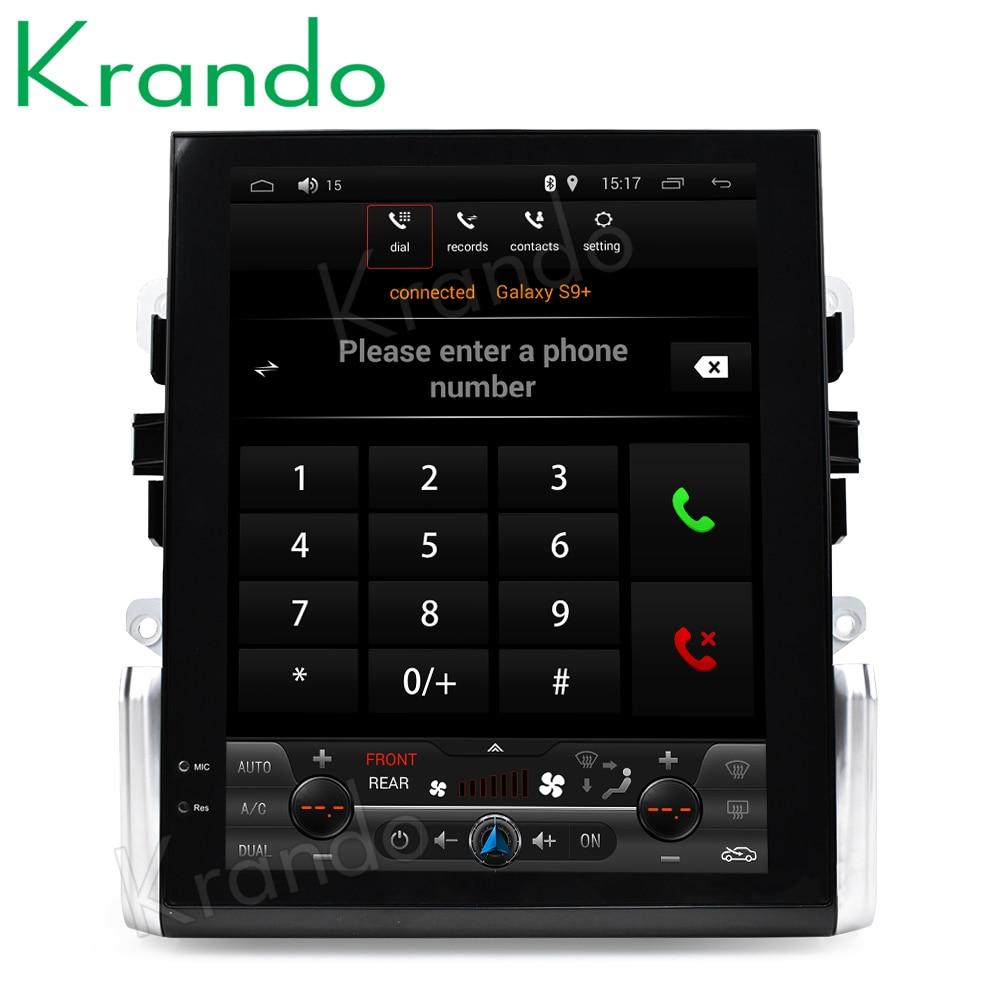 Krando Android 6 0 10 4 Tesla Vertical screen car audio player for Porsche Macan 2011