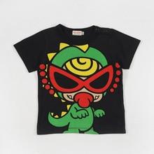Mikiumkee2019, Новая Стильная летняя детская одежда для мужчин и женщин хлопковая футболка с короткими рукавами и рисунком большого динозавра