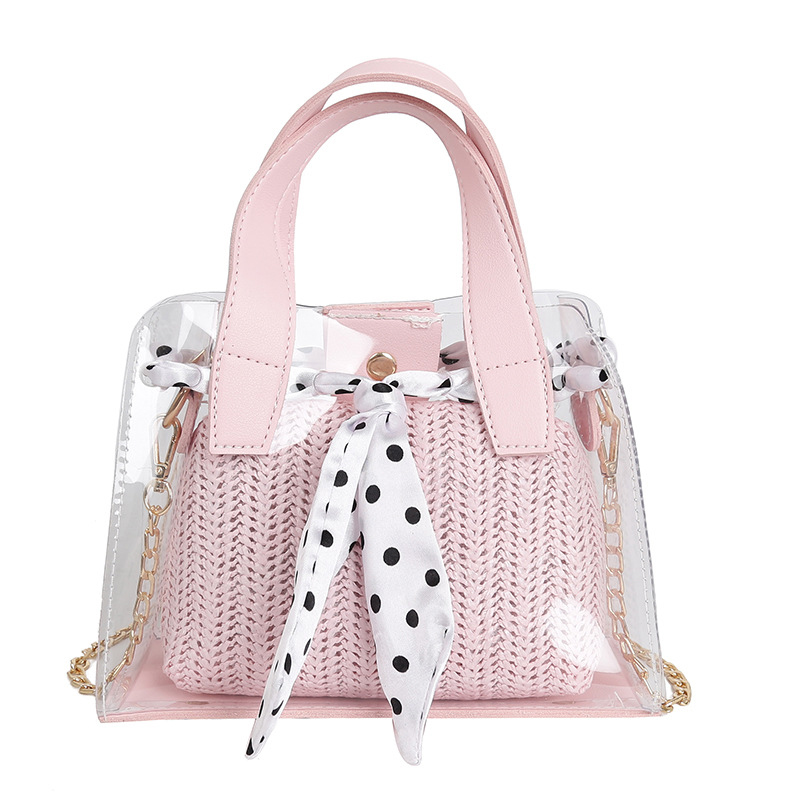 New Transparent Mother Bag Female Simple Wild Korean Fashion Wave Point Ladies Shoulder Bag