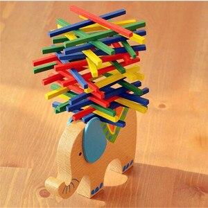 Детские игрушки Верблюд, слон балансирующие блоки деревянные образовательные игрушка Деревянный Баланс игра Монтессори блоки подарок для ребенка