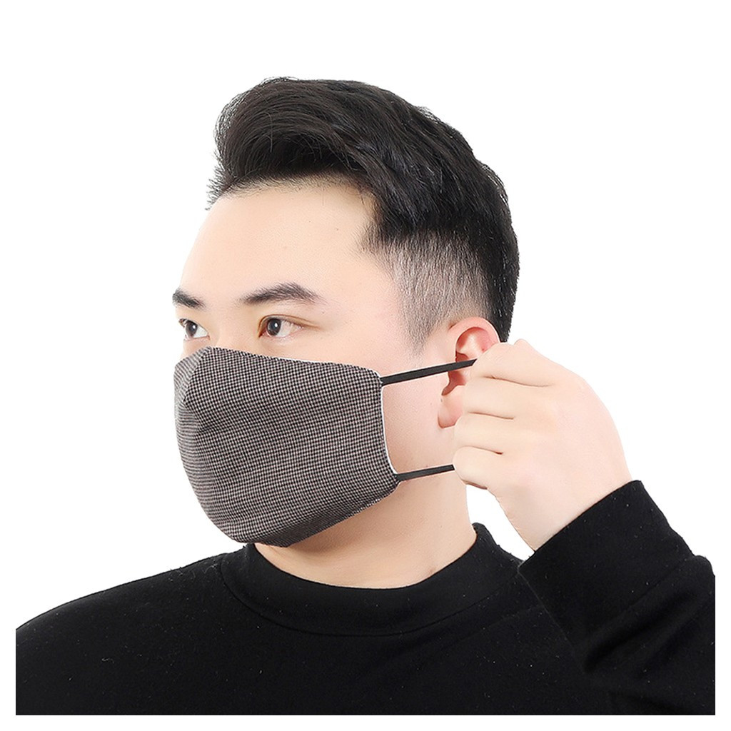 Men Summer Cotton Dust-Proof Breathable Thin Mask Anti Pollution Face Shield Dustproof Breathing Mask #C