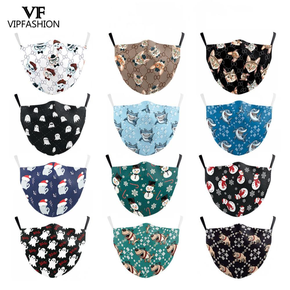 VIP FASHION Reusable PM2.5 Face Adult Mask Cartoon Anime Print Washable Fabric Face Mask Windproof Proof Bacteria Pollution Mask