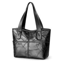 2019 New Womens Pu Leather European and American Style Tote Bag Simple Fashion Shoulder Mummy #197318