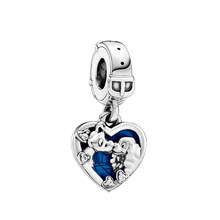 New Dnisy Miss and tramp Pendant Fit Original Pandora Charms Bracelet Women Pulseiras Kiss Dog Beads for Jewelry Making Gift DIY