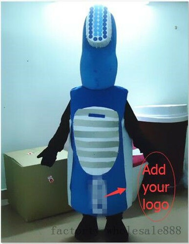 2019 Advertising Dental Care Tooth Toothbrush Mascot Costume Adult Dress Cosplay New Cosplay Hallowen Gift Unisex image