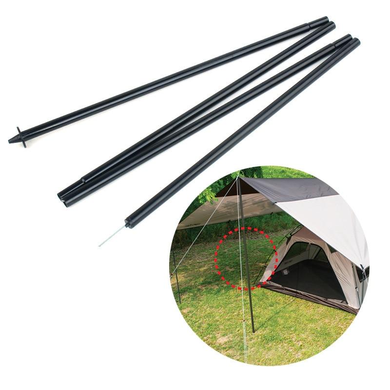 2pcs 2.1m Folding Tent Tarp Awning Sunshade Poles Rods Bag Camping Travel