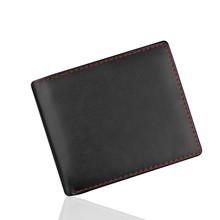 Męskie solidne portfele biznesowe luksusowe skórzane portfele Xpu skórzane Slim Bifold krótkie portfele etui na karty kredytowe męskie torebki # T1P tanie tanio ISHOWTIENDA 50 g Poliester PU Leather Stałe Moda Wallet Men Wnętrze slot kieszeń Uwaga przedziału Posiadacz karty 9 5 cm