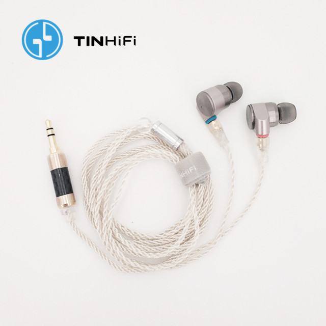 TINHIFI T2 2DD Double Dynamic Drive in Ear Earphone HiFi Bass DJ Metal headsets 3.5mm MMCX Cable Tin T1 T2 PRO T3 P1 24h ship 5