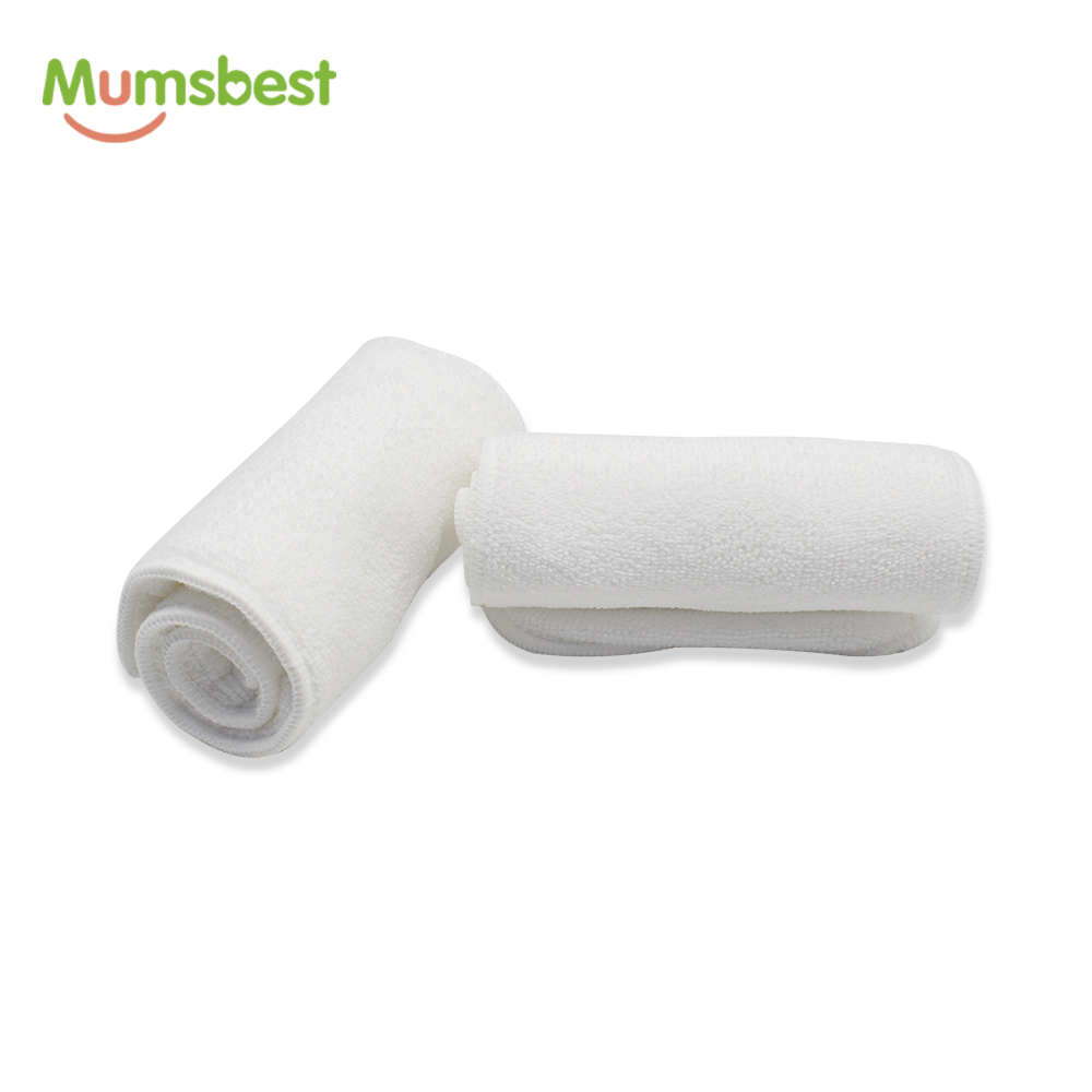 [Mumsbest]1Pcs Inserts Washable Baby Cloth Diapers Nappy Reuseable Inserts Microfiber 4 Layers