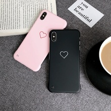 Hard PC Case For iPhone 8 7 6 6S Plus Luxury Couple Love Heart Cute X XS Max XR Fashion Back Cover Capa Coque