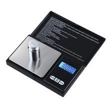 Urijk 1 шт. цифровые весы 100/200/300/500/1000g 0,01/0,1g точный ЖК-дисплей Дисплей Карманные электронные весы грамм Вес для Кухня ювелирные изделия наркотиков