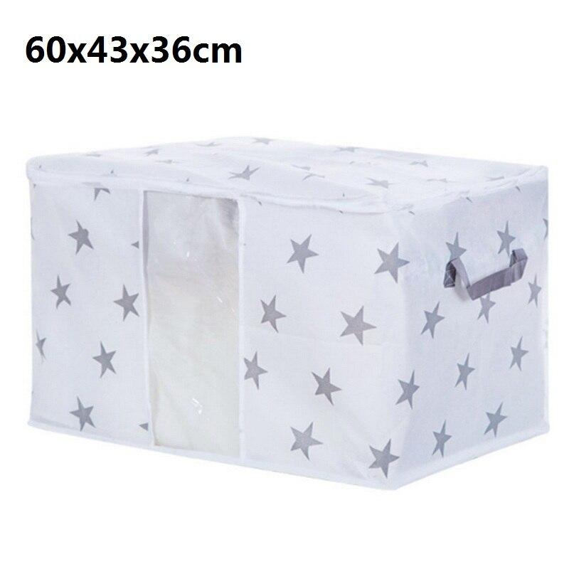 Одежда, одеяло, сумка для хранения, шкаф для одеял органайзер для свитера, коробка для сортировки, мешки, шкаф для одежды, контейнер для путешествий, дома, Прямая поставка - Цвет: B1 60x43x36cm