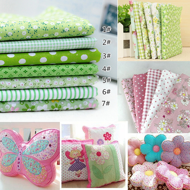 Cloth Wholesale 7pcs/set Square Cotton Fabric Printed Cloth Sewing Quilting Fabrics For Patchwork DIY 100% Cotton Casual Plant