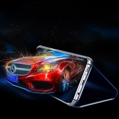 Smart Mirror Flip Phone Case For Samsung Galaxy A50 A70 A80 A30 A20 A10 S10 S10E S8 S9 Plus S7 Note 10 Pro 8 9 Protective Cover Karachi