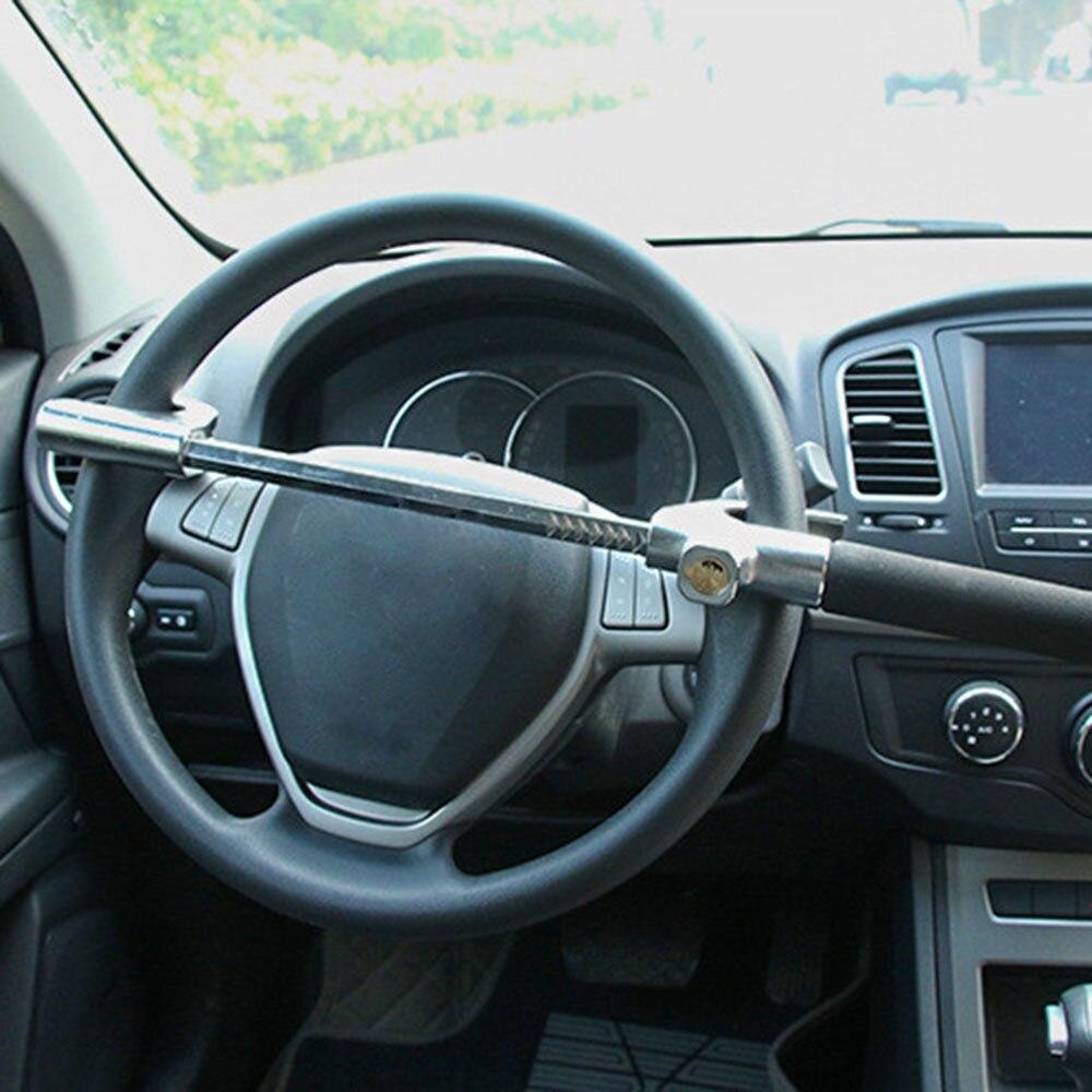 Универсальный автомобильный Регулируемый замок рулевого колеса тележки противоугонная система безопасности замки инструмент самозащиты