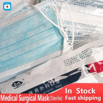 100/20 pcs Medical Surgical Mask Sterile Disposable Protective Mouth Face Mask Anti Virus Dust Mask flu Surgical Medical Masks