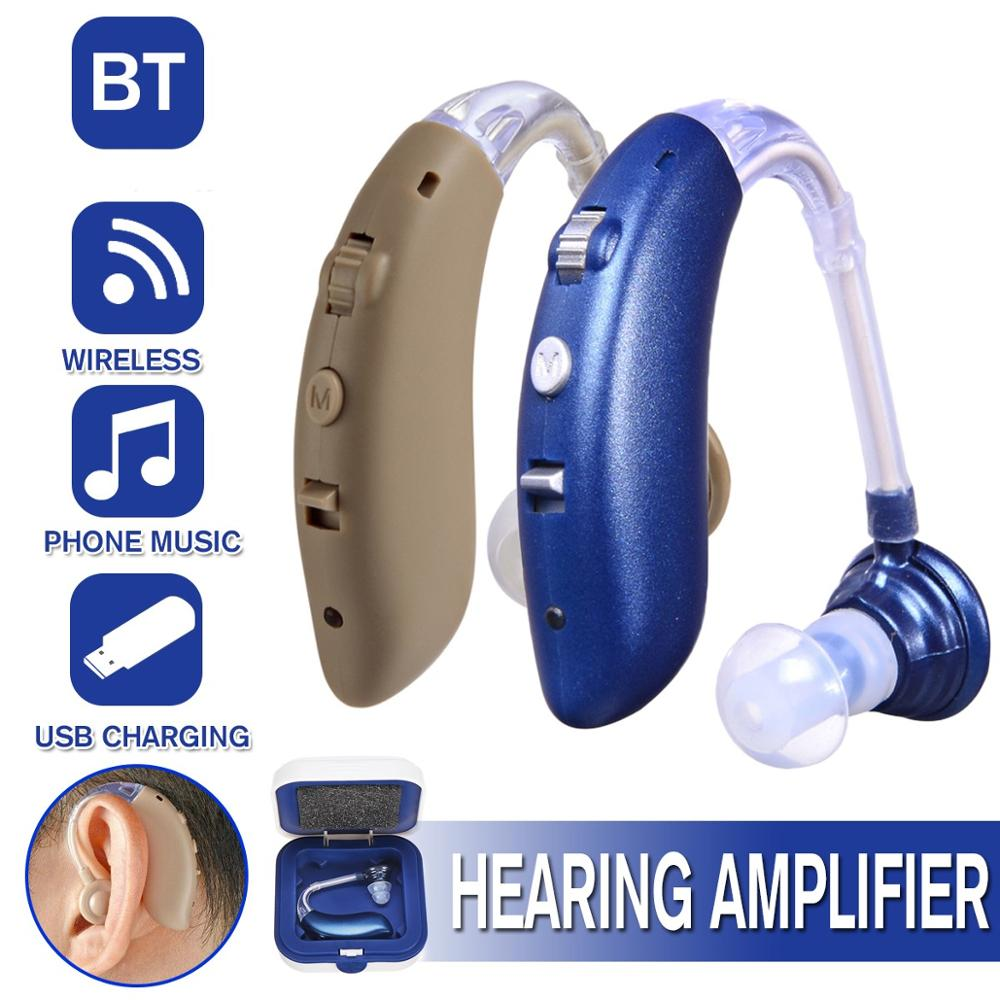 2020 New Rechargeable Hearing Aid For The Elderly Hearing Loss Sound Amplifier Ear Care Tools 2 Color Adjustable Hearing Aids