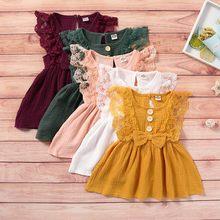 Платье для маленьких девочек; Летние детские платья без рукавов