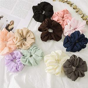 Image 5 - 20 Pcs נשים של שיפון פרח שיער פצפוצי שיער קשת שיפון קוקו מחזיק מוצק צבעים שיפון קשרי שיער עבור בנות teen