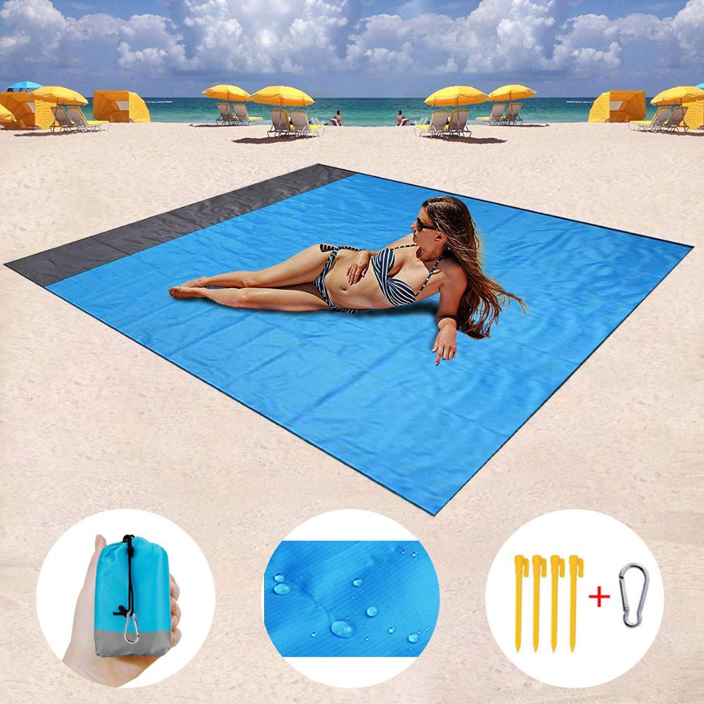 2M*1.4M Waterproof Beach Blanket Outdoor Portable Picnic Mat Camping Ground Mat Mattress Outdoor Camping Picnic Mat Blanket