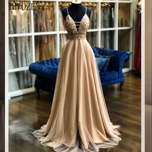 Vestidos золотые вечерние платья атласные трапециевидные Спагетти без бретелек длинное вечернее платье Формальные Вечерние платья robe de soiree 2020