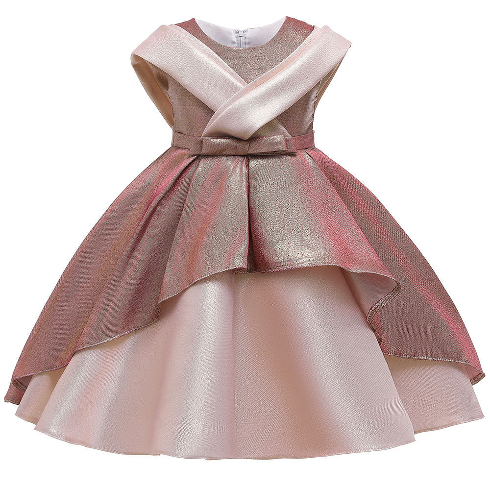 2 Ways Wear Girl Elegant Princess Dress Flower Girl Party Dress For Birthday Kids Girl Ball Gown Wedding Dress 4