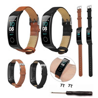 Für Huawei Honor Band 4 / 5 Strap Fibre Leder Uhr Band Armband Uhrenarmbänder Honor4 Honor5 Band4 Band5