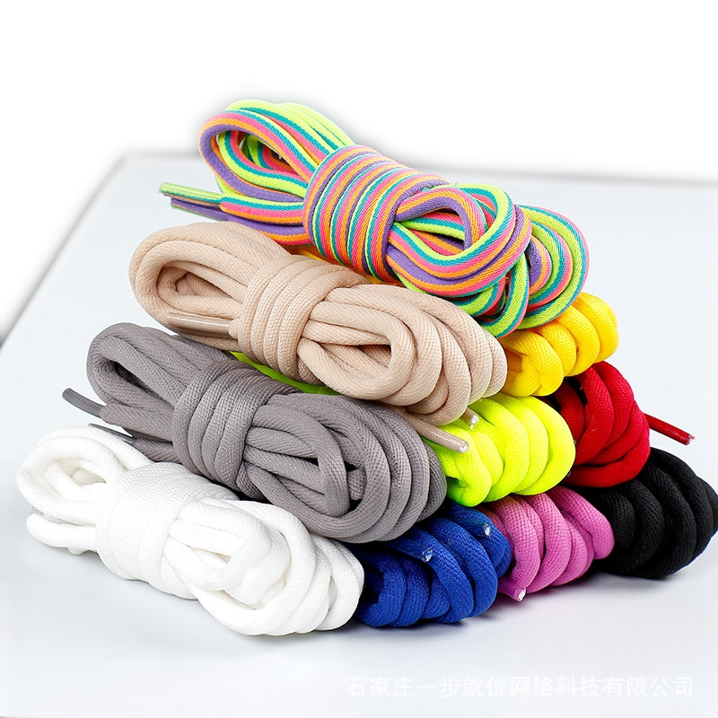 New Round Shoelaces Solid Rainbow Classic Martin Boot Shoelace Casual Sports Boots Shoes Lace Sneaker Shoe Laces Strings