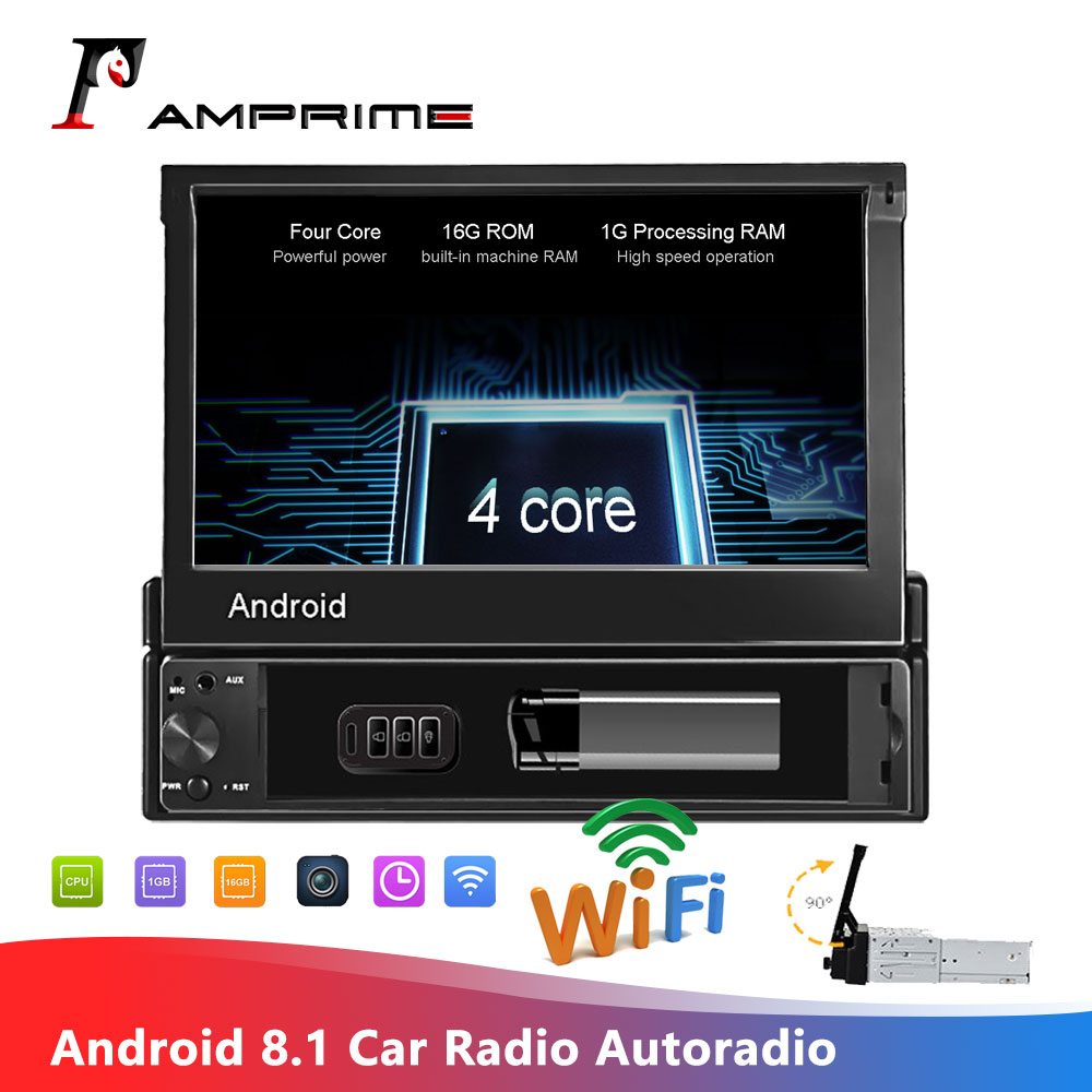 AMPrime <font><b>1din</b></font> Android <font><b>Car</b></font> Radio wifi <font><b>Car</b></font> <font><b>Multimedia</b></font> GPS Navigation Autoradio Bluetooth Stereo Radio FM AUX USB Auto Audio <font><b>player</b></font> image