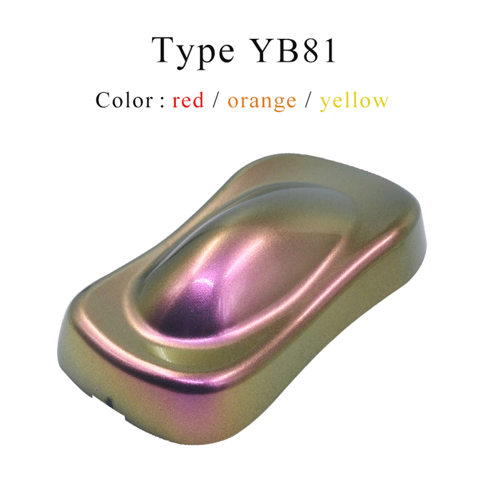 YB81 Chameleon Pigments Acrylic Paint Powder Coating Pigment Dye For Cars Automotive Painting Decoration Arts Crafts Nails 10g