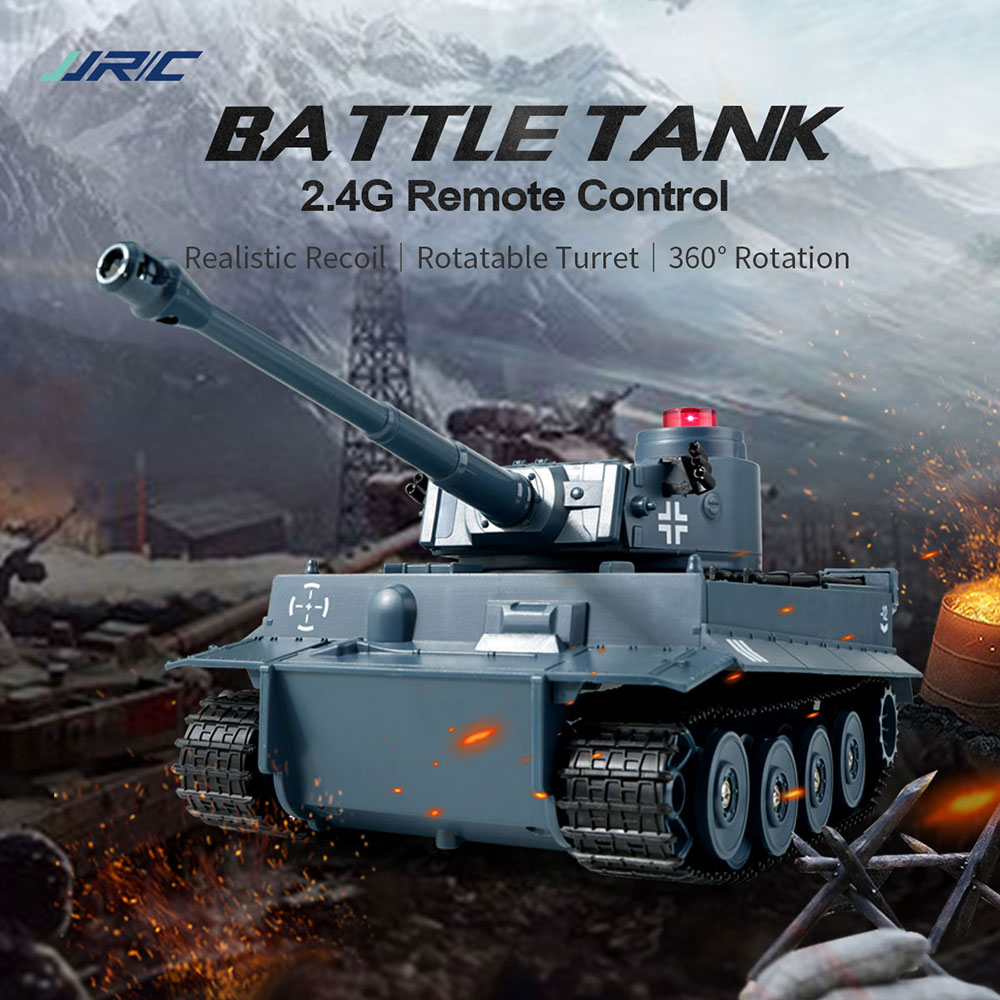 RC Tank 2.4G Battle Launch Military Truck Cross-Country Tracked Remote Control Simulation Tank Vehicle Hobby Toys for Children