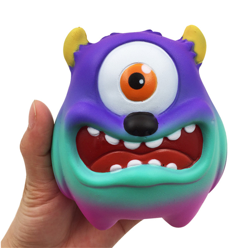 11cm One Eyed Monster Squishy Cyclops Cartoon Slow Rising Antistress Toy Slow Rising Charms Squishies Gift Children Toys Boys