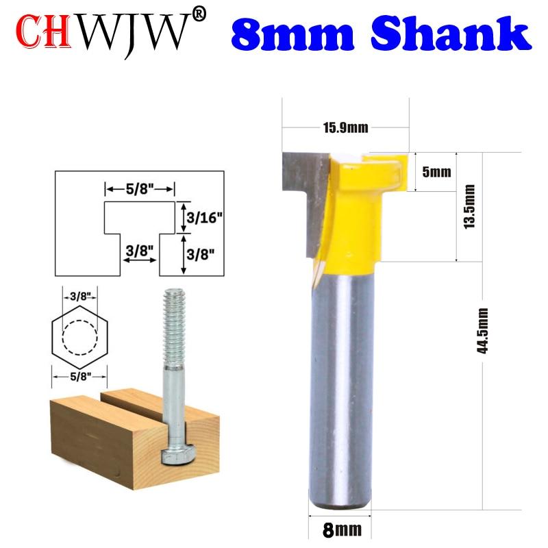CHWJW 1PC 8mm Shank 3/8