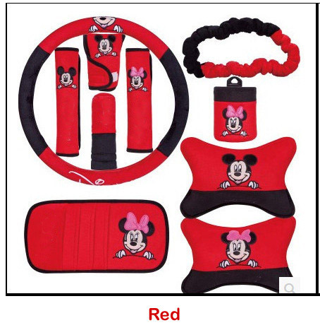 2 color steering wheel cover for cartoon pattern car accessories decoration handbrake...