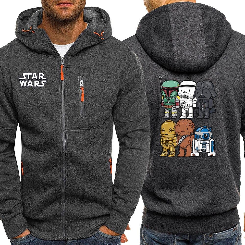Star Wars Hoodies New Autumn Streetwear Zipper Men Hoodie Sweatshirt Harajuku Anime Jacket Male Casual Coat Hip Hop Tracksuit