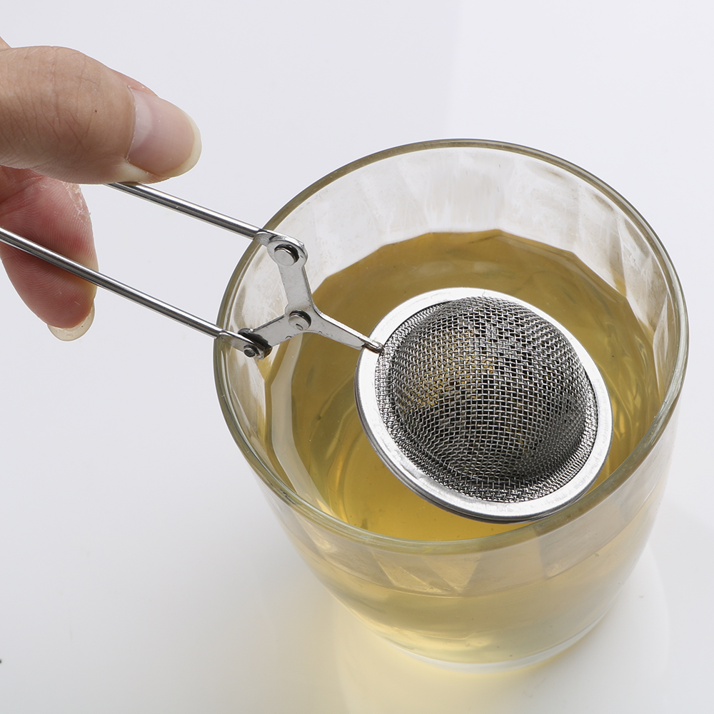 Sphere Mesh Tea Strainer Stainless Steel Handle Tea Ball Kitchen Gadget Coffee Herb Spice Filter Diffuser Tea Infuser