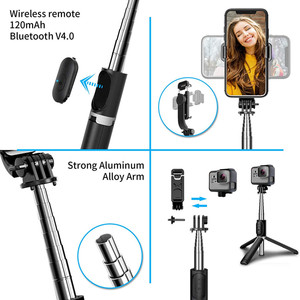 Image 2 - 4 In 1 Draadloze Bluetooth Selfie Stok Met Statief Lichtmetalen Self Selfiestick Smartphone Selfie Stick 3 Telefoon Voor Iphone camera