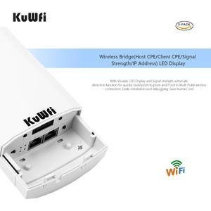 Image 3 - RU Trasporto Libero 2 PCS 2.4Ghz 300Mbps 1KM P2P Nessuna Impostazione Wireless Outdoor CPE Bridge Router Access Point supporto WDS con Display A LED